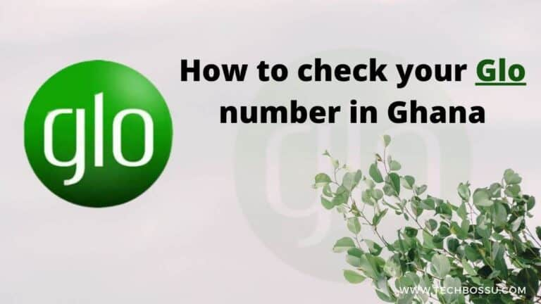 how to check your glo number in Ghana